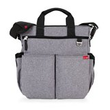 Skip Hop Duo Signature Diaper Bag with Portable Changing Mat, Heather Grey